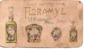 Parfum/Carte parfum�e/Calendrier/Flora mye/PIVER/Paris/1925                  PARF8