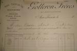 87 - FACTURE  VINS EAUX-DE-VIE Et  LIQUEURS   - AIXE SUR VIENNE -   GOTTERON FRERES    1891 - 1800 – 1899