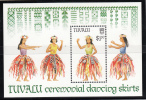 Tuvalu MNH Scott #519 Souvenir Sheet $1.50 Ceremonial Dancing Skirts - Tuvalu