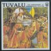 Tuvalu MNH Scott #509a Souvenir Sheet $1 Queen Elizabeth II Being Carried In Boat - Independence 10th Ann - Tuvalu