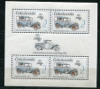 Czechoslovakia 1987 Sheet  Sc 2657 Mi Block 70 MNH  4 Stamps+1 Label CV 10 Euro - Czechoslovakia