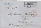 Prussia 1861 Letter Boxed BERLIN Cancel To Paris - Preussen
