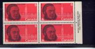 CANADA, 1970, # 517, Sir Oliver Mowat: Father Of Confederation   UR P Block MNH - Blocks & Sheetlets