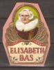 Bagues De Cigares / Elisabeth BAS (1571/1649)  Grand Format  Sur Support Carton Bon Etat - Bagues De Cigares