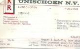 BUNSCHOTEN  K R  Unischoen N V  Timtur   15.08.1968   6 Pages - Pays-Bas
