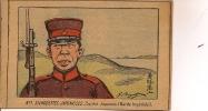 R / 12 / 3 / 337  -SILHOUETTES JAPONAISES - N° 1  - SOLDAT JAPONAIS ( GARDE IMPÉRIALE )  SIGNÉ G. BIGOT - Bigot