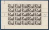 FRANCE FEUILLE DE 25 TIMBRES NEUF** LUXE Y&T N°451 Avec Coin Daté 40   Valeur 151,00 - Feuilles Complètes