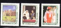 Turks And Caicos Islands 1982 Princess Diana Issue MNH - Turks & Caicos