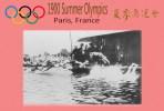 (NZ19-012 )  Swimming , 1900 Paris  , Olympic Games , Postal Stationery-Postsache F