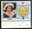 Tuvalu MNH Scott #357 10c Queen Elizabeth II 60th Birthday - Tuvalu