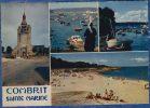 29 COMBRIT STE-MARINE Eglise, Port Et Plage De Sainte-Marine ; Vedette, Yacht, Bigoudène 4 Vues - Animée - Combrit Ste-Marine
