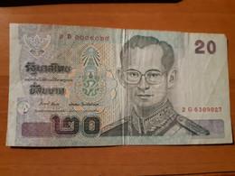 THAILAND 2012 CRISP NEW UNCIRCULATED UNC 20 BAHT GREEN BILL NOTE BANKNOTE P 109 - Tailandia