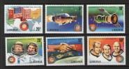 LIBERIA 1975  APOLLO-SOYOUZ  YVERT  N°685/90  NEUF MH* - Space