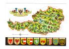 Autriche: Carte Geographique (12-1013) - Austria