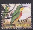 Zambia ~ 2007 ~ 1500k On 1200k Birds ~ Bee Eater ~ SG 1025 ~ Used - Birds