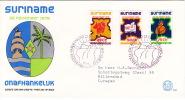 1975 Independance Issue Sc424-6  FDC - Surinam