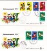 1967  Kinderzegels Mit Block  E57, E58 - Suriname ... - 1975