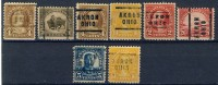 8 Different Very Old United States Precancels From Akron, Ohio - United States