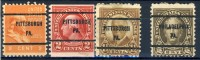 4 Different Very Old United States Precancels From Pittsburgh And Philadelphia - United States