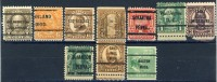 10 Different Very Old United States Precancels From 10 Differtent Cities, Couple Of Faults - United States