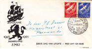 1955  Bevrijding    E6  FDC - Suriname ... - 1975