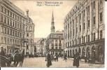 Let082/ Riga, Belebte Theaterstrasse 1918 (Feldpost) - Lettland