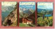 3 Ganghofer Bücher - Gebundene Ausgaben - Der Laufende Berg , Der Dorfapostel , Bergheimat - Livres, BD, Revues