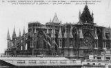 Cp , Militaria ,  Guerre Européenne 1914-1915 , Reims , Abside De La Cathédrale , Nord , Aprés Bombardement - Guerre 1914-18