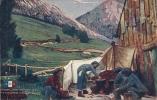 EN GUERRE - Chasseurs Alpins Préparant Le Rata - Personajes
