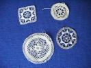 Lot De Dentelle (au Crochet ).-pour Modele Ou Confection Vetements De Poupee - Laces & Cloth