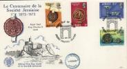 FDC JERSEY  HISTOIRE CELEBRITE  1973   N*. YVERT   71/4 - Jersey