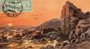 Egipto-- El Cairo--1908--Le II Catarat Avec Les Rochers Abusir.-Ballon--Pour. Lyon , France - El Cairo