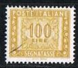 """Italia Segnatasse 1955/84 """"Stelle""""   £. 100  Usato Sicuro - Postage Due"""