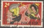 NIGERIA  - 1965 WEAVER BIRDS 2d USED  SG 222 - Nigeria (1961-...)