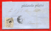 ESPAGNE LETTRE DE 1872 DE VILLAREAL POUR BARCELONE - 1872-73 Königreich: Amédée I.