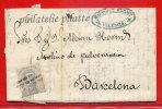 ESPAGNE LETTRE DE 1872 DE VALENCE POUR BARCELONE - 1872-73 Königreich: Amédée I.