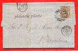 ESPAGNE LETTRE DE 1869 DE ALMERIA POUR BARCELONE - 1868-70 Gobierno Provisional