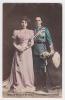 [w1045] España Rey Alfonso XIII & Princesa Victoria De Battenberg Tarjeta Postal - Royalty Of  Spain Vintage - Familias Reales