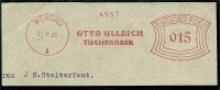 Germany Nice Old Cut Meter OTTO ULLRICH TUCHFABRIK Werdau 23-7-1929 - Textiel