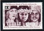 Tuvalu MNH Scott #595 50c Polynesians And Columbus - 500th Anniversary Of Discovery Of Americas - Tuvalu