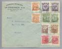 Mexiko 1916-07-06 Sammlerbeleg Mi#428-32 Durchstochen Sowie Nicht Amtlich Gezähnte Marken - Mexique