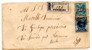 Lettre Recommandée De Paysandu, Uruguay Pour Sondrio Per Ardenno, Italie (1902) - Uruguay