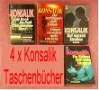 4 Konsalik Taschenbücher = 6 Romane , Der Verhängnisvolle Urlaub - Frauen Verstehen Mehr Von Liebe - Livres, BD, Revues