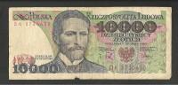 POLONIA 10000 ZLOTYCH 1988 BANCONOTA CIRCOLATA - Polen