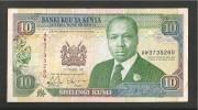 KENYA 10 SHILLINGS 1992 BANCONOTA CIRCOLATA - Kenya