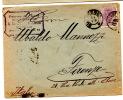 Lettre De Bucarest Pour Florence (Italie)_25 Bani Violet - Marcophilie