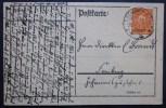 Briefmarken Brief Ganzsache Gelaufen 1923 Nach Freiberg Sachsen. - Briefe U. Dokumente