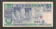 SINGAPORE 1 DOLLAR  BANCONOTA CIRCOLATA - Singapore