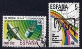 Espagne - Journée Des Télécommunications YT 2168-2169 Oblitéré - 1931-Hoy: 2ª República - ... Juan Carlos I