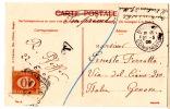 CP De Bougie (Constantine) Pour Genova (22.05.1906) Taxé à L'arrivée (tarif Imprimé Refusé) - 1900-44 Victor Emmanuel III